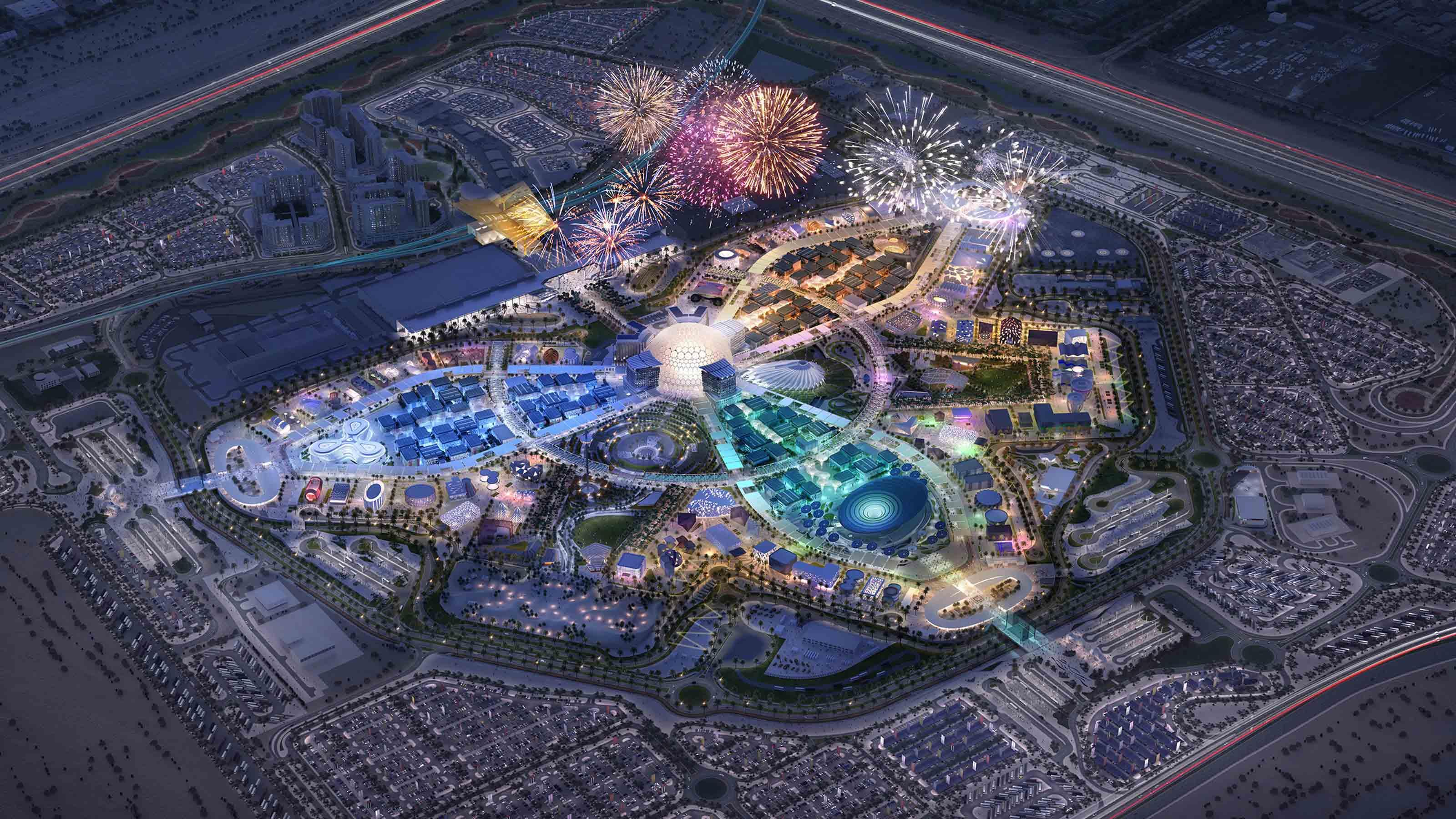 Dubai Expo 2020 aerial picture
